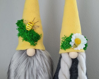 Bumble Bee Gnome, Honey bee gnome, Spring Summer Decoration