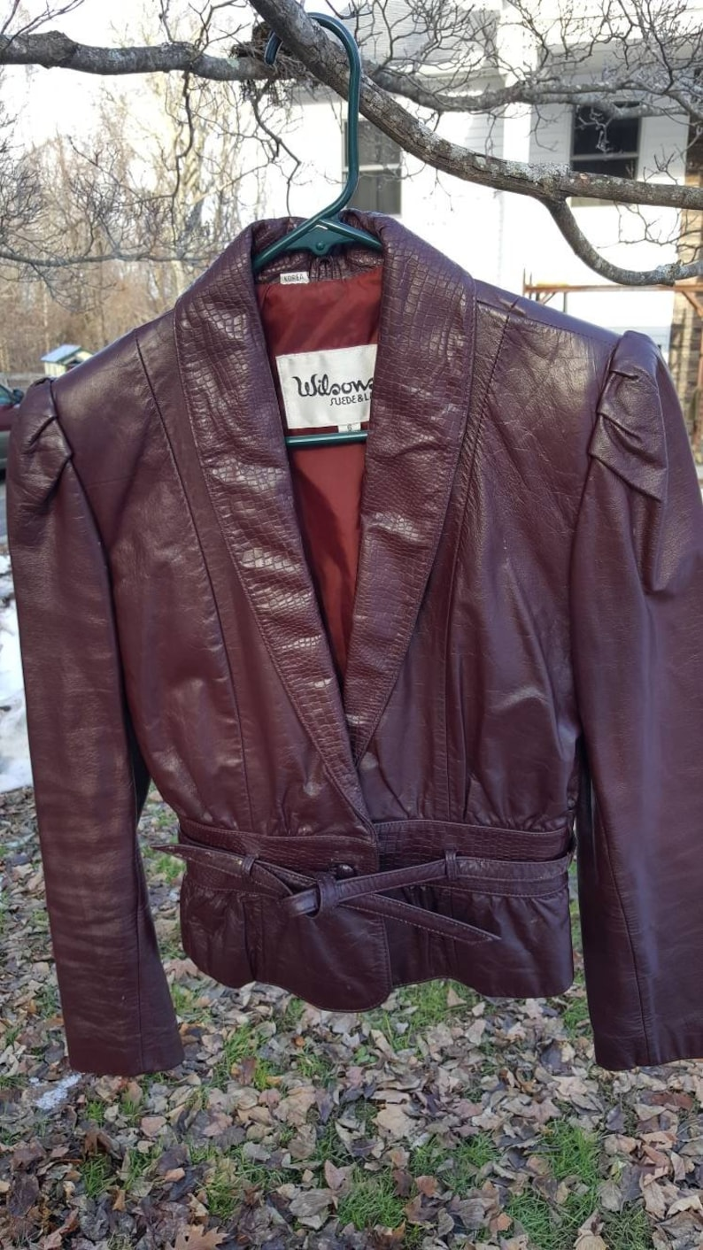 4a44e05a9 Vintage Wilson Suede and Leather Blouson Waist belted jacket!