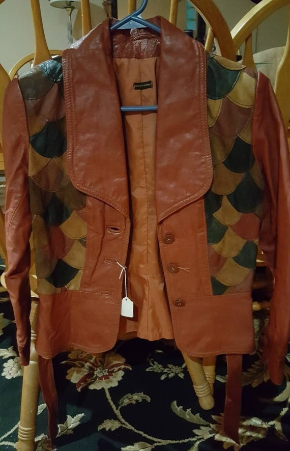 1970's Patchwork Leather Jacket !