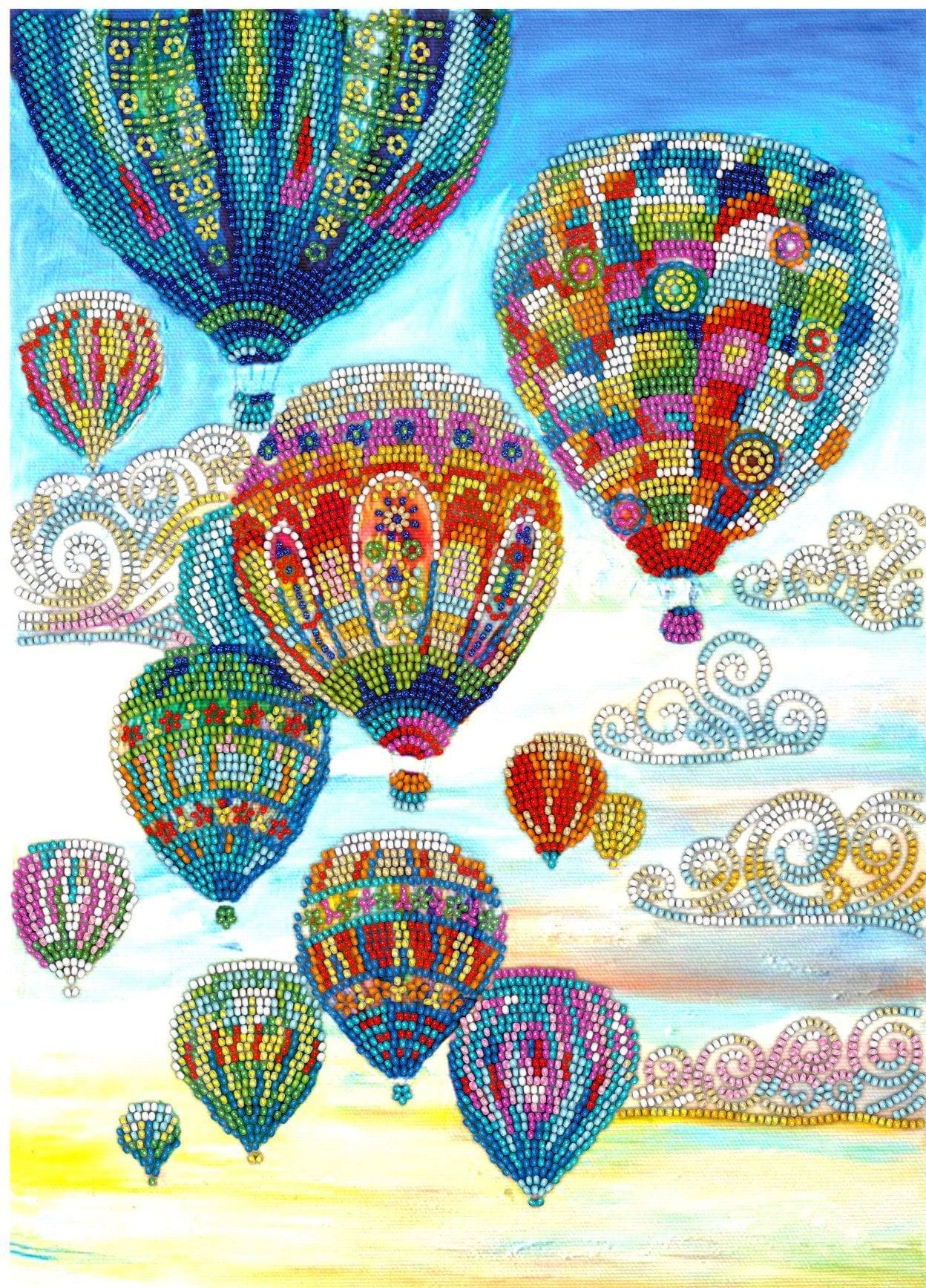 Ensemble de ballons perle bricolage broderie kit broderie artisanale artisanale artisanale perlée couture chambre mur pendaison de crémaillère idée cadeau déco 7f4082