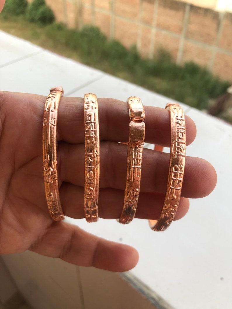 Pure solid 100/% Copper Handmade Bangle Bracelet