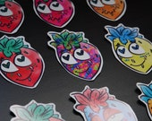 Glossy Strawberry Stickers