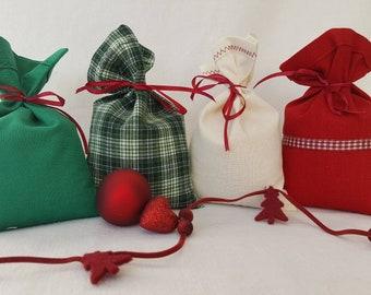 Advent calendar Stuffed bags Advent calendar for filling Advent calendar from fabric bags red white green, Christmas calendar classic
