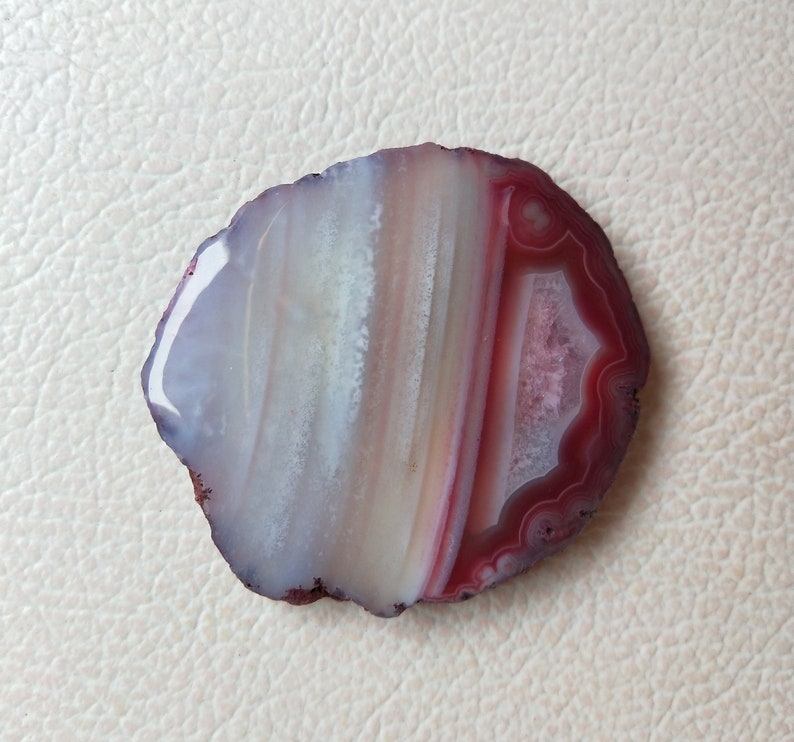 Agate Dyed Slices Gemstone Cabochon free-form Gemstone Cabochon Jewelry Use 54x50X6 mm