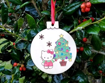 Hello Kitty Ornament Etsy