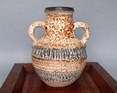 CARSTENS West German Vase.Pottery West Germany.German Vintage Pottery.Fat Lava.Two Handled Jug.Speckle Glaze.Vintage Carstens.ArtyEpicurean.