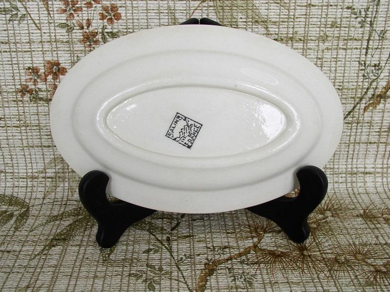 Old Dish SALINS,FRANCE Small Dish in Vintage Ceramics France.Plat de Service Blanc Deco Fleur.Plat Ironstone France ArtyEpicurean.