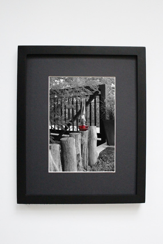 Photo Oil Lamp Color Accent Series Ruby Post Matted Print 3