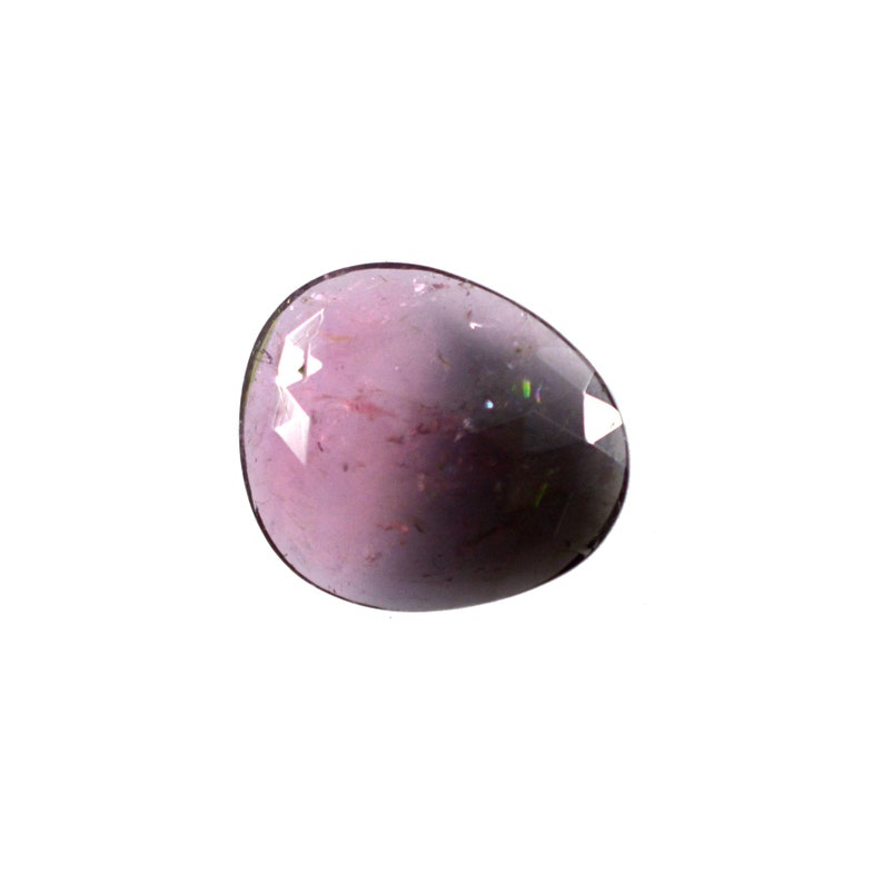4.35 cts. 12.5x14.5 mm Bi color Tourmaline Cabochon Gemstone for Jewelry 7532 Tourmaline Gemstone Faceted