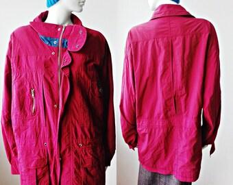 f14d03381 Magenta jacket | Etsy