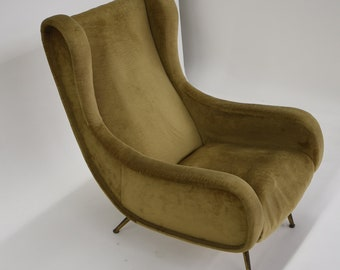 e26332a819921 Lounge chair of the 1950s in the style of Marco Zanuso's Senior Chair