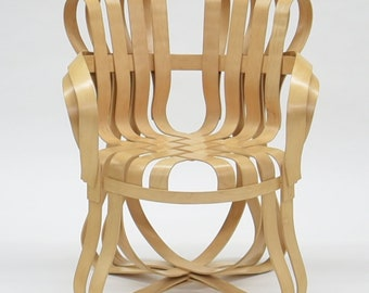 Frank Gehry Cross Check Chair Bent Maple Wood With Arms
