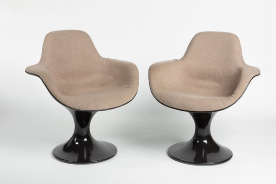 Brilliant Pair Of Two Farner Grunder Arm Chairs Orbit For Herman Miller Chair 2X Pabps2019 Chair Design Images Pabps2019Com
