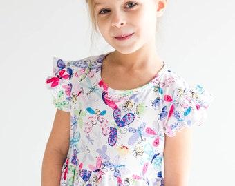 9135be2bd7b0d Flutter Sleeve Butterfly Dress