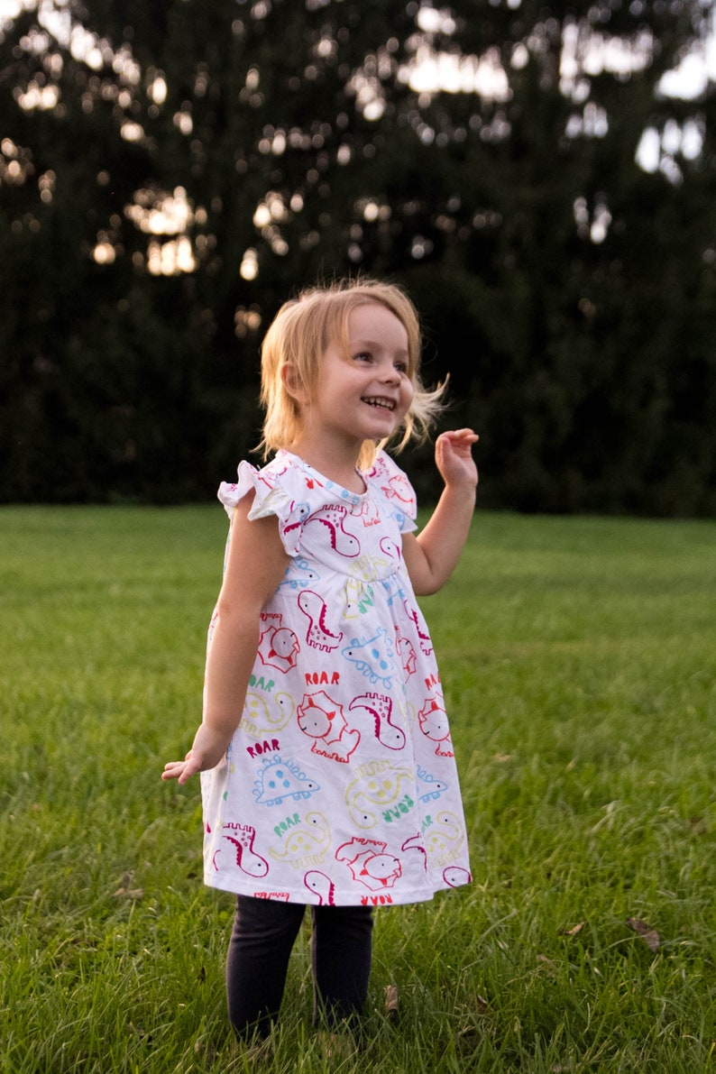 Dinosaur Flutter Dress