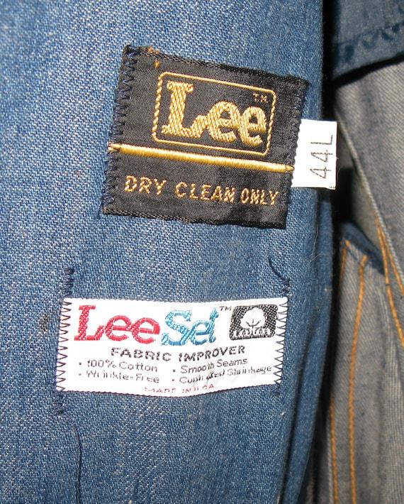 1970s Vintage Lee Denim Sport Coat, Size 44L - image 4