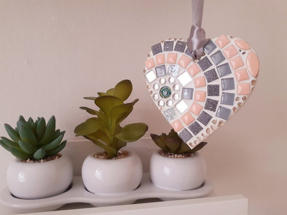 personalised gift Starlight Mosaic Heart 10cm