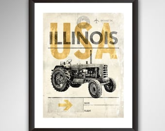 Ford Tractor Poster 1932-1986 Farming & Agriculture Media