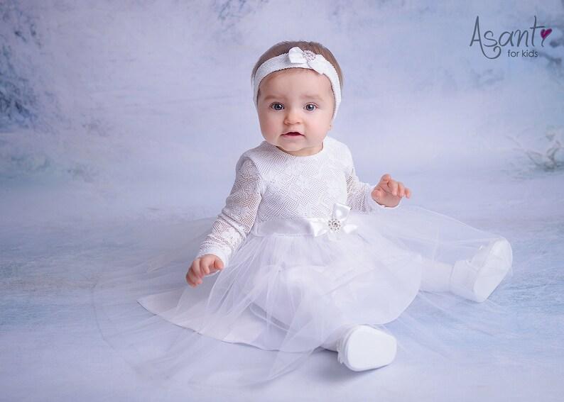 9e82dff15e Sukienka do chrztu Blanka z długim rękawem 62-98