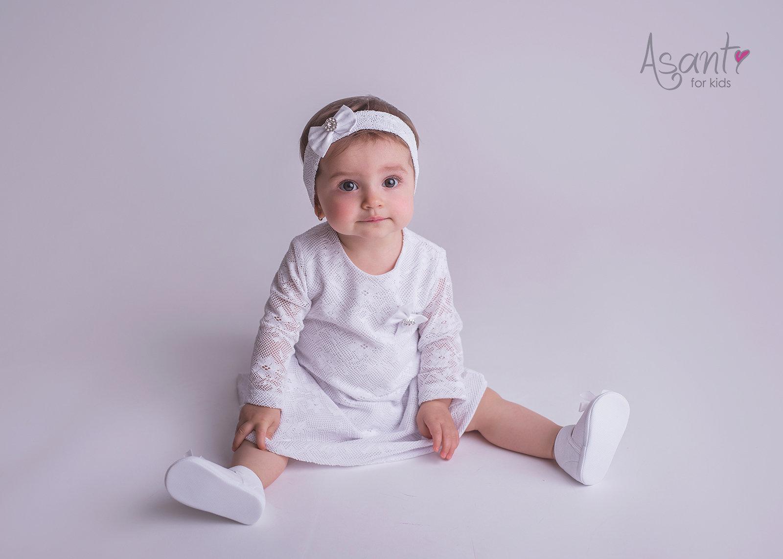 Baby Mädchen Taufkleid Set Bolero Kleid Hochzeit Asanti Neu Weiß