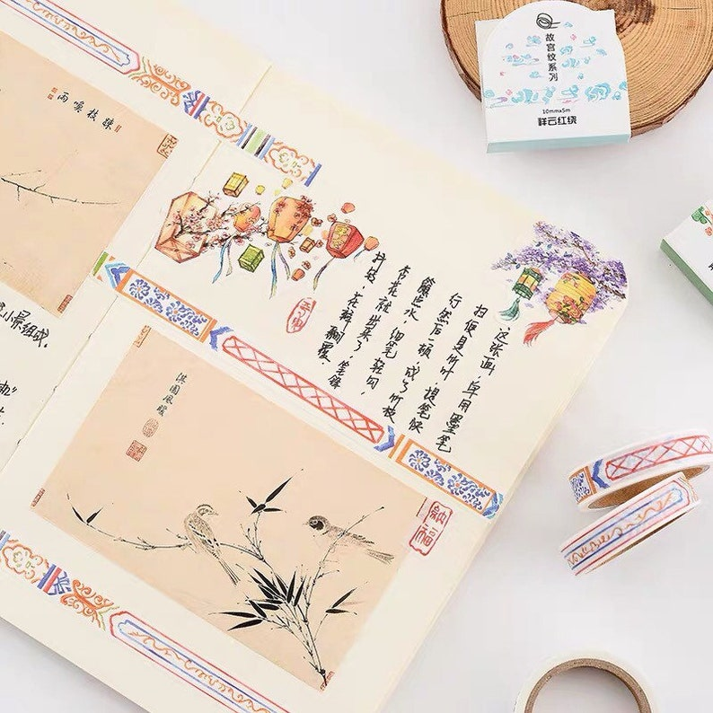 oriental decoration tape decor planner decoration journal book decoration decoration Washi tape back to school tape asian style