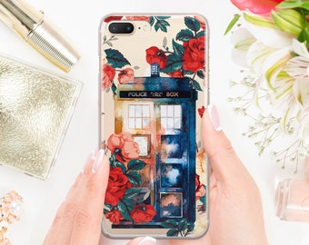 Half-wrapped Case Phone Bags & Cases Floral Tardis Tardis Doctor Who Phone Shell Case For Apple Iphone 7 7 Plus 8 Plus 6 6splus X Xr Xs Max Hard Back Phone Case