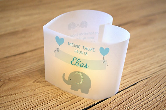Diy 6 X Light Envelope Wind Light Heart For Baptism Etsy