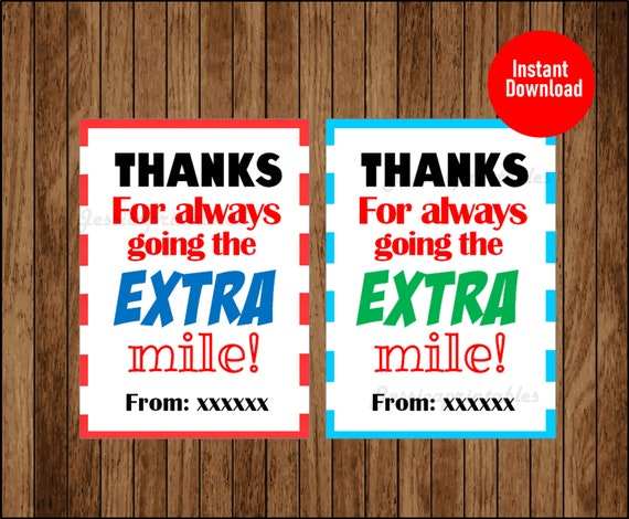 picture about Thanks for Going the Extra Mile Printable referred to as Due for relocating the Much more mile Tag, Instructor Appreciation Present Tags, Gum Thank Yourself Tag, Printable Instantaneous Down load
