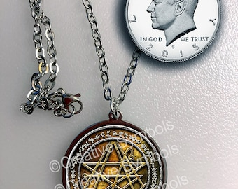 Sigil of the Gateway Large Pendant with 50 names of Marduk in Stainless Steel Waterproof
