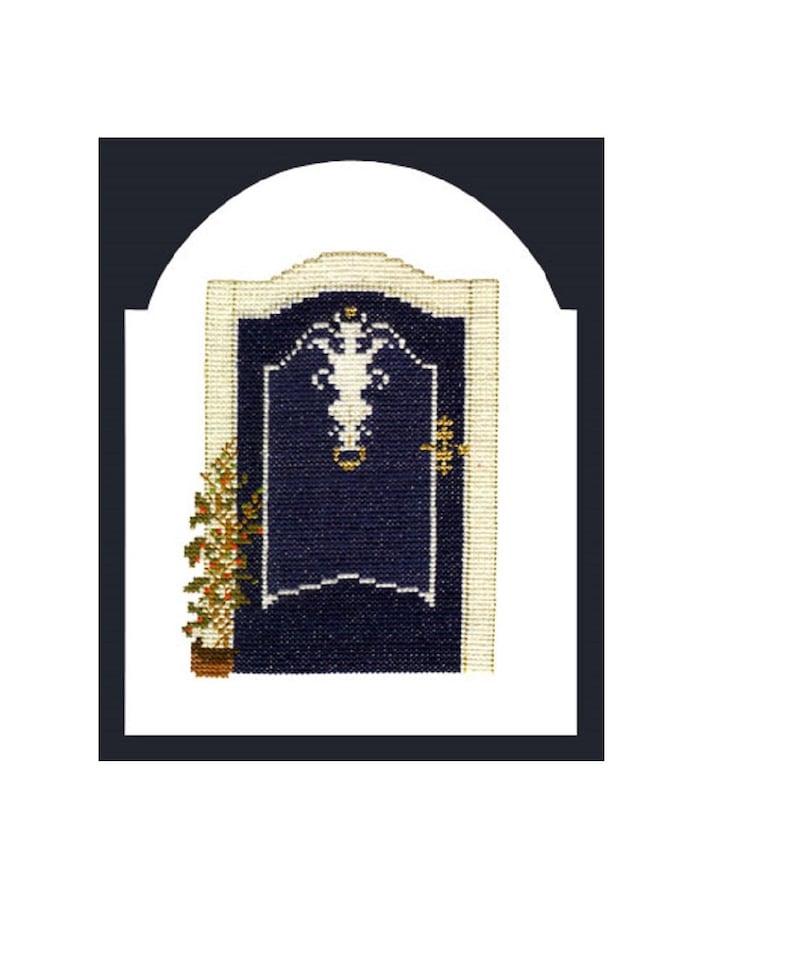 Cross stitch template Embroidery Kapitänsaus door 2 of coastal image 0