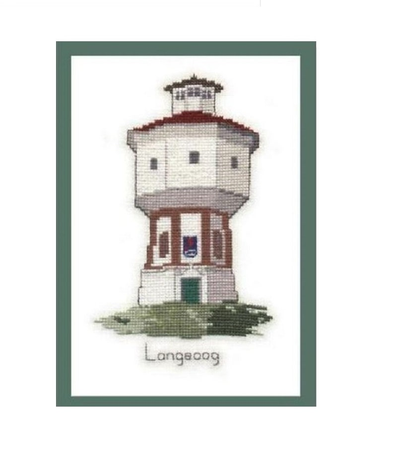 Cross Stitch template Stick template landmark water tower image 0