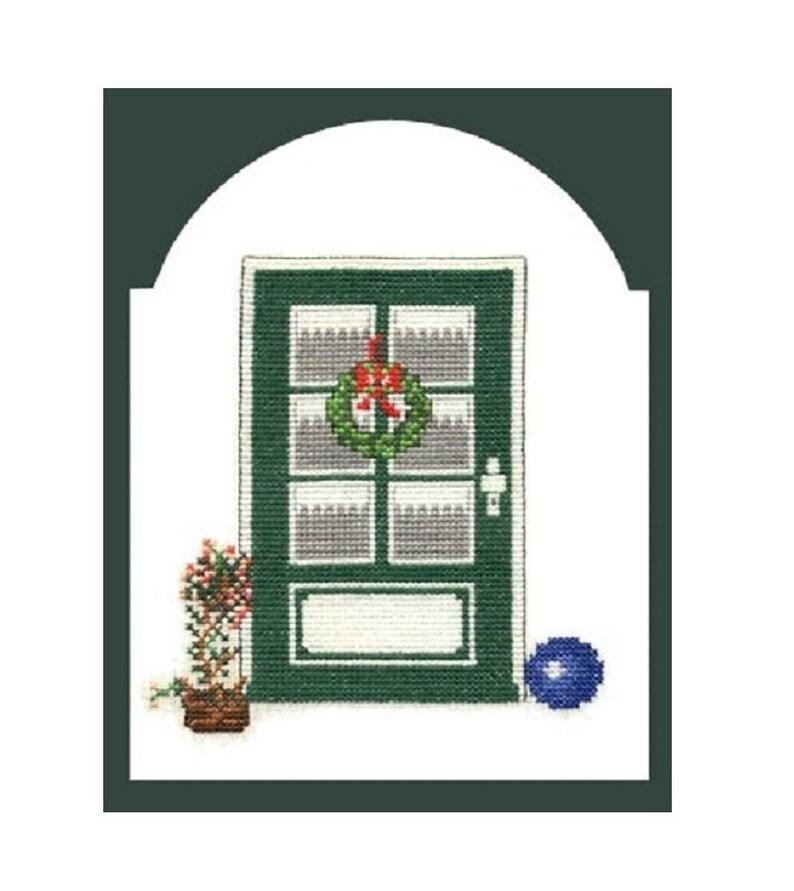 Cross stitch template Embroidery Kapitänsaus Door 1 of coastal image 0