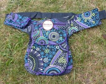 Hawanja belt bag black patterned size L