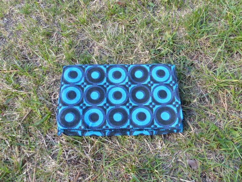 Hawanja Purse Blueblack patterned