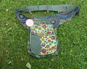 Hawanja belt bag green/ colorful L