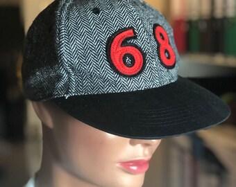 87402a600c7a70 Baseball Vintage 80er Cap Mütze grau meliert 68