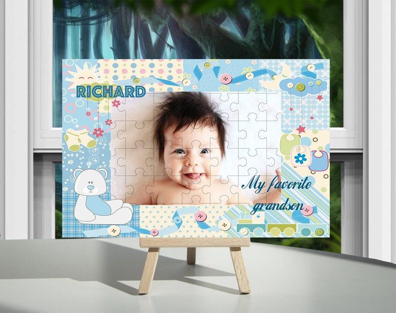 Custom Wooden Puzzle Grandfather Birthday Gift  Personalized Puzzle Photo Puzzle  Picture Puzzle Art Customized Puzzle Great Grandpa Gift