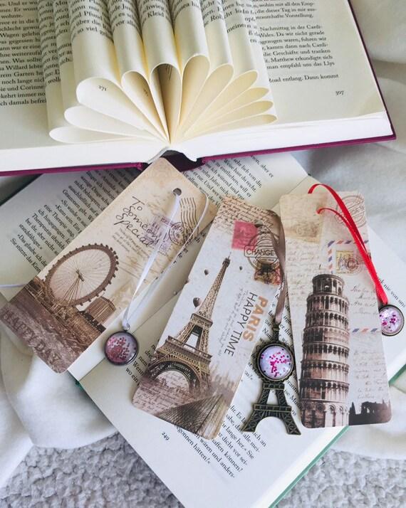 Paper Book Mark Sets retro Auswahl an Lesezeichen-Designs