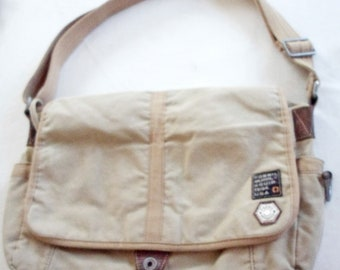 7549e4d3abfd Vintage FOSSIL Brand SUPPLY CO. Canvas Messenger Crossbody Bag