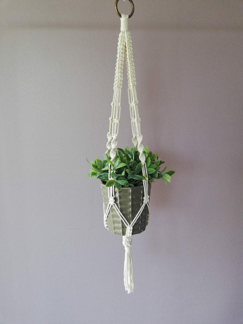 Suspension Plant macramé Ecru rope image 0