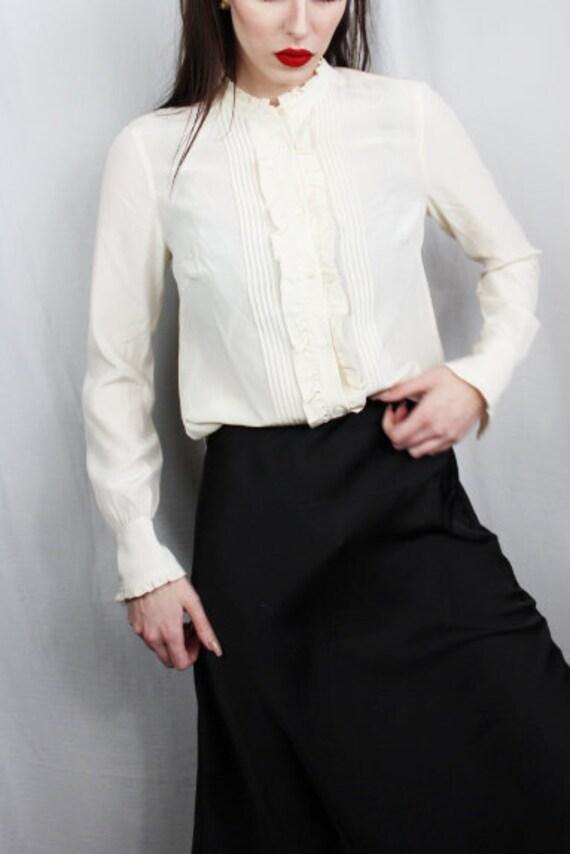 Silk Blouse for Women, 100 Silk Shirt, Vintage Si… - image 3