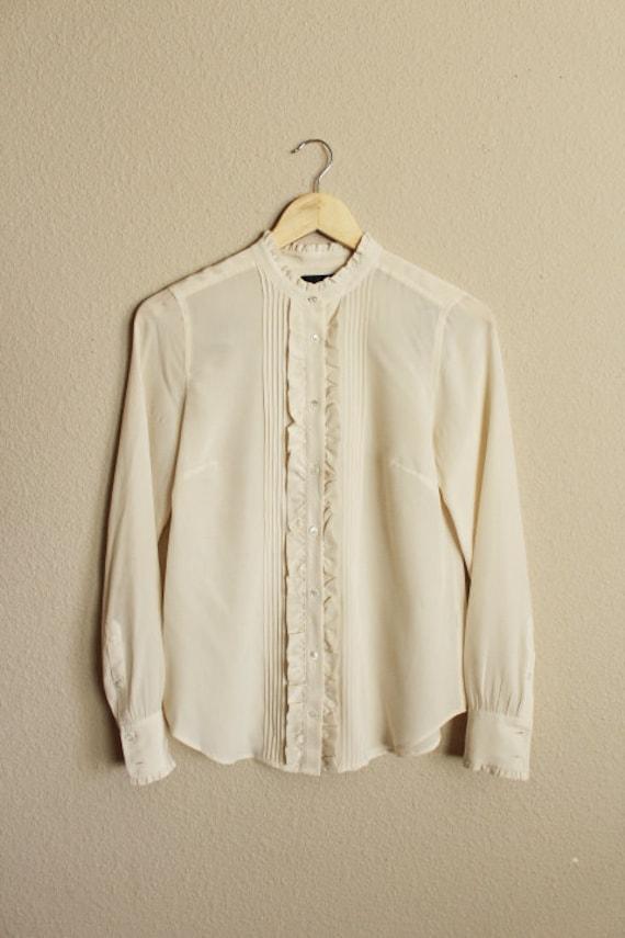 Silk Blouse for Women, 100 Silk Shirt, Vintage Si… - image 5