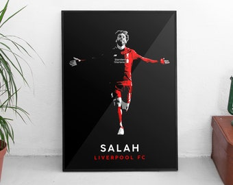 Liverpool FC Salah 11 Poster Print T1144 A4 A3 A2 A1 A0|