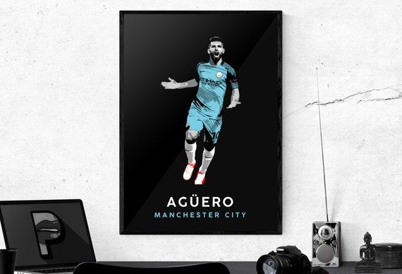 Sergio Aguero Manchester City Poster Print Photo Picture A3 A4