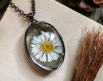 real fern necklace nature woodland jewelry plant and glass jewelry gift womens fairytale gift for her
