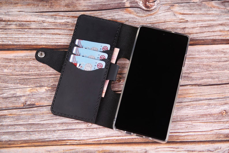S10e S10 5G leather wallet case Wireless Charging Real Leather Hand Stitched Womens Sansung Galaxy Note20 5G Note10