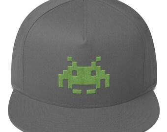 Green Alien Flat Bill Cap 3e0dd7f6e3b9