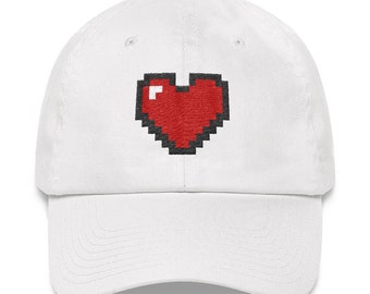 b11db654496 Pixel Heart Dad hat