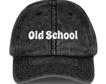 fcd3ecb6565 Old School Vintage Cotton Cap