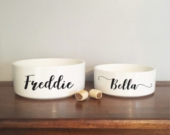 Personalised Cat Bowl Ceramic Henry Hinch Dishes, Feeders & Fountains